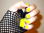 NY yellow taxicab Nail Art