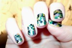 Polish Up Nail Art Challenge – Theme #3 – Green camo