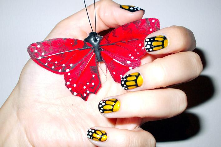 Polish up nail art challenge theme 7 animal print butterfly i prinsesfo Choice Image