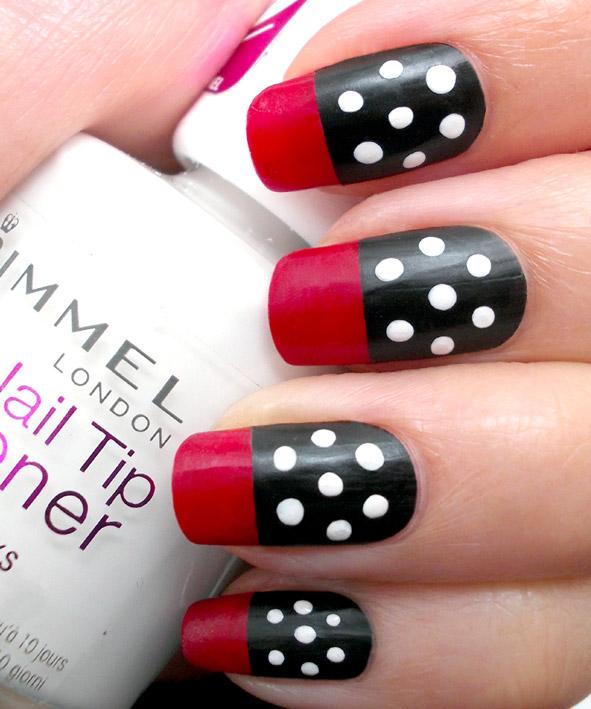 Red, Black & White Polka Dots Nail Art – PROMAKEUPME