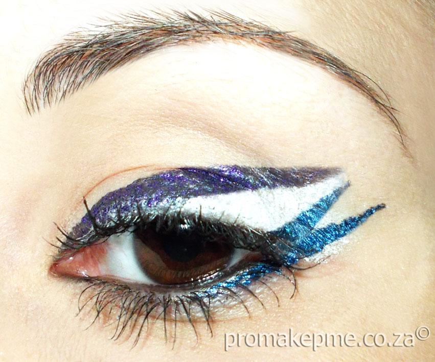 Blue Purple Cream Colour Blocking Makeup Promakeupme