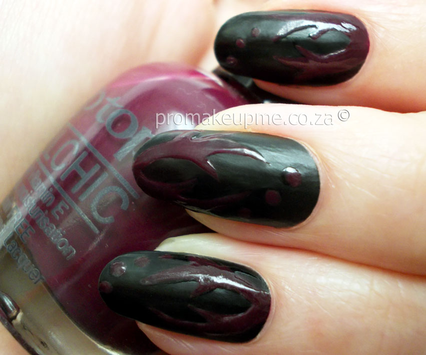 Matte Black with Glossy detail Nail Art – PROMAKEUPME