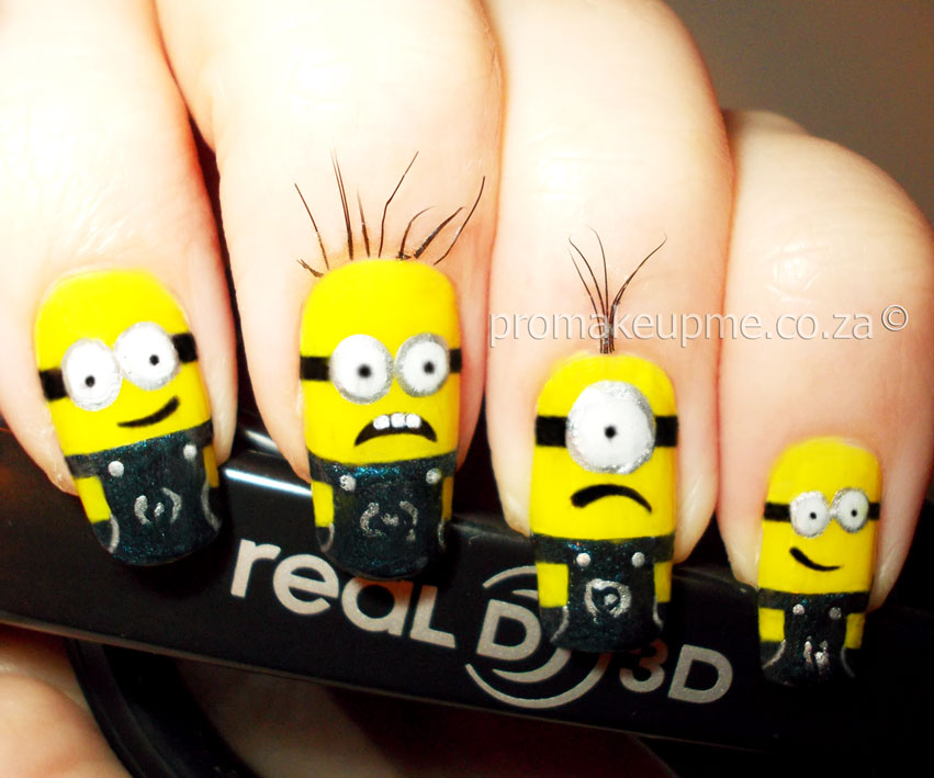 Despicable me minions nail art promakeupme minnions5 prinsesfo Images