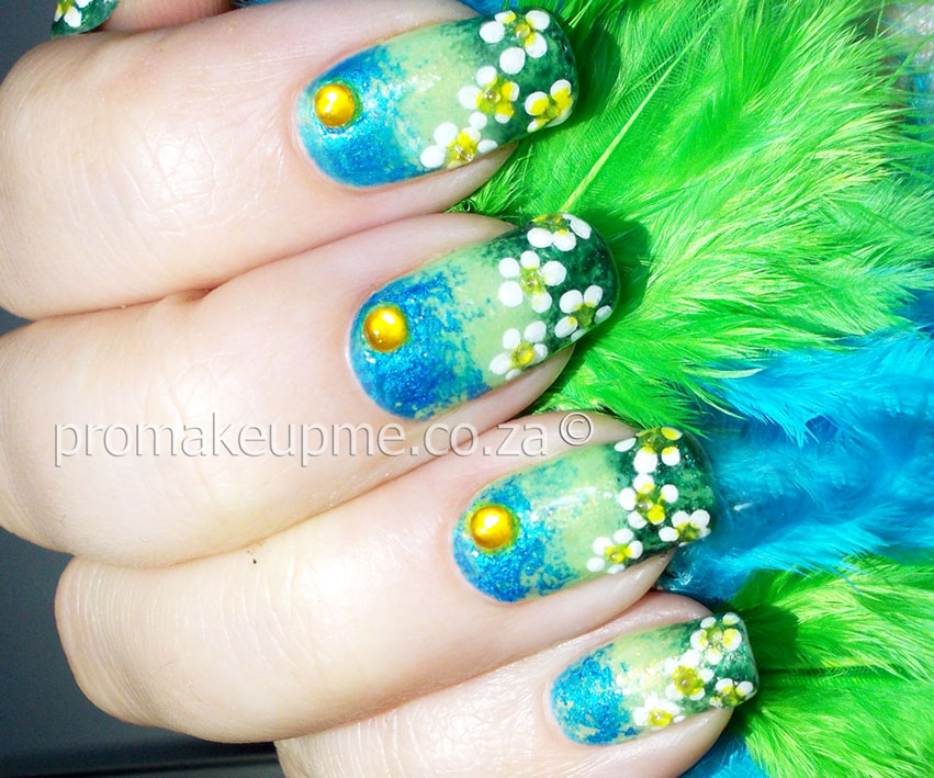 Field of spring flowers nail art promakeupme springfieldflowers6 mightylinksfo