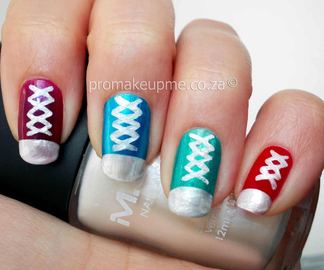 north star sneaker nail art � promakeupme