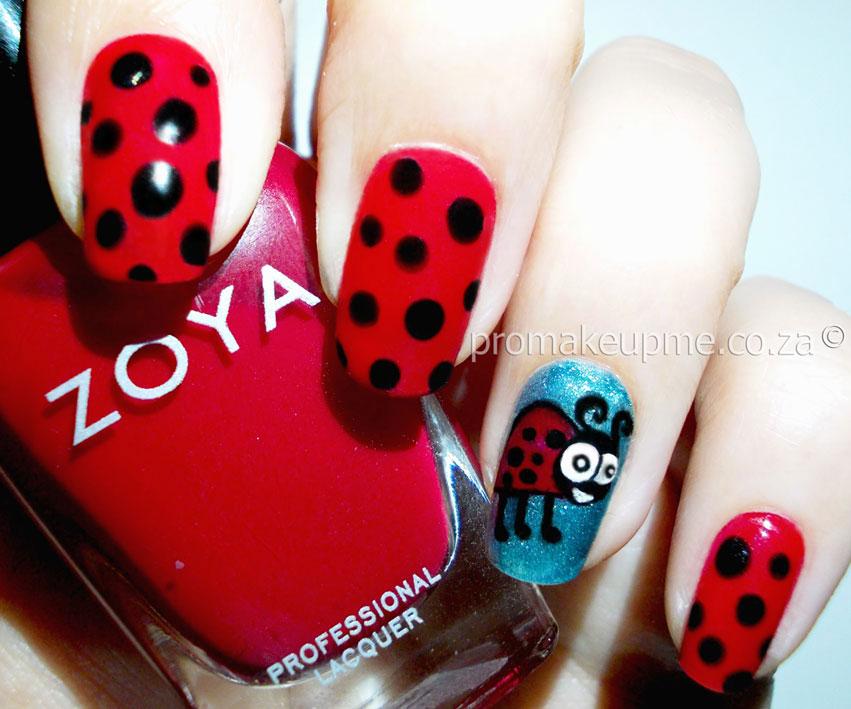 Ladybug Nail Art Promakeupme