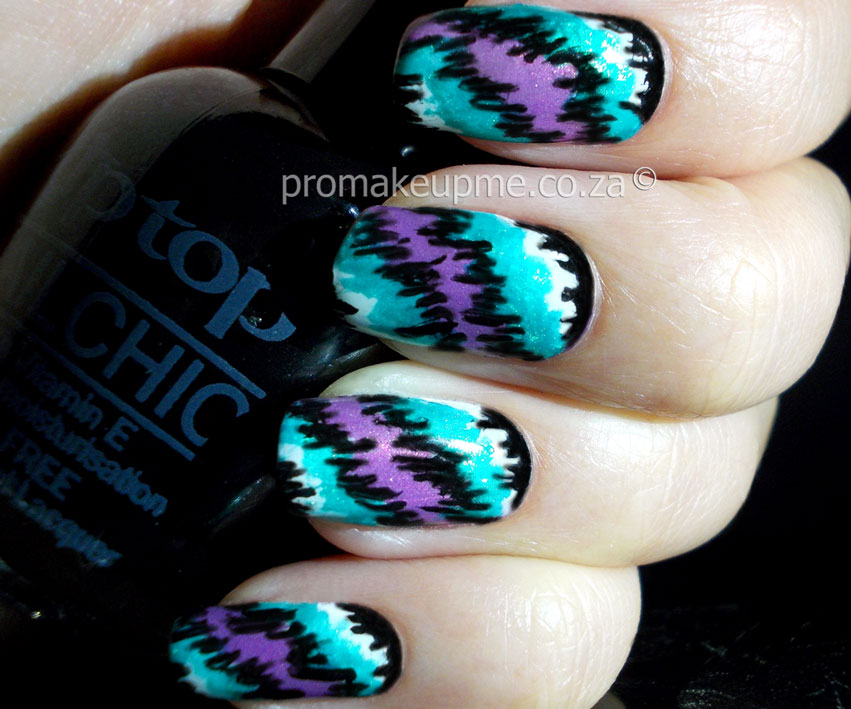 Pop culture nail art promakeupme purplewhiteteal4 prinsesfo Image collections