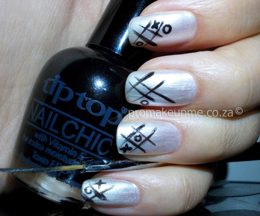 Naughts Crosses Nail Art Promakeupme