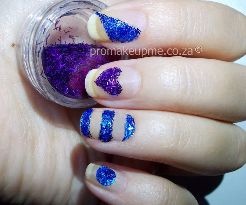 Fuzzy glitter textured nail art promakeupme textured nails 1 prinsesfo Gallery