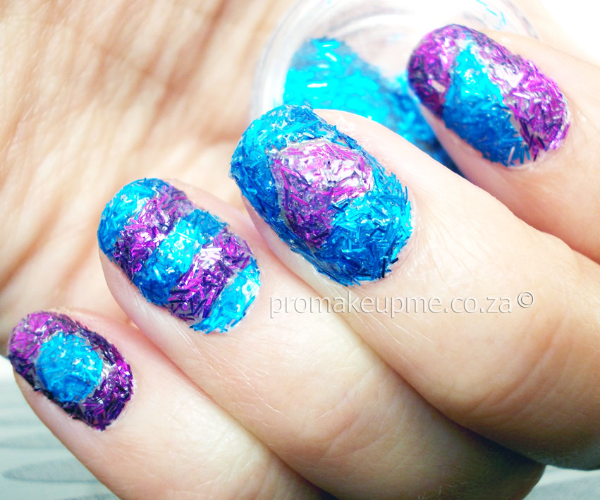 Fuzzy glitter textured nail art promakeupme textured nails 2 prinsesfo Gallery