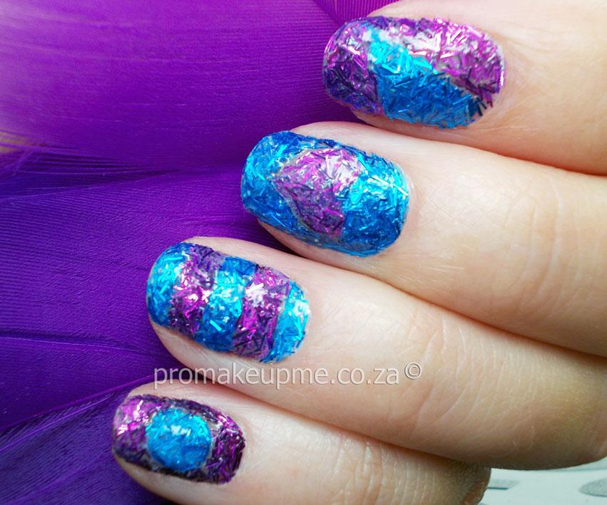 Fuzzy Glitter Textured Nail Art Promakeupme
