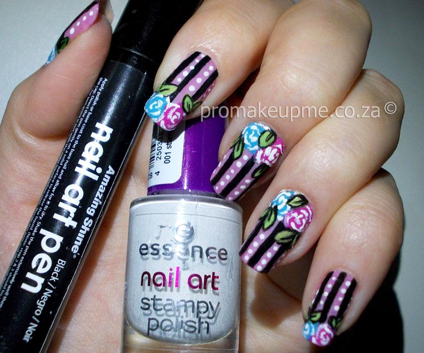 Biggie Best Lines Florals Nail Art Promakeupme