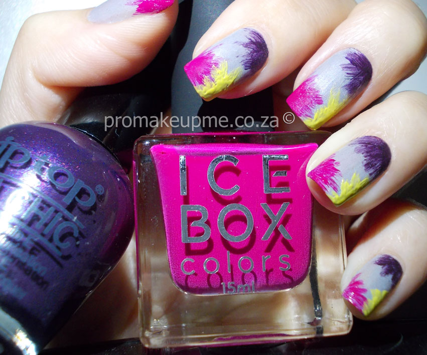 Brush stroke flowers nail art promakeupme colourful flowers 2 prinsesfo Images