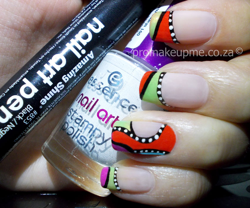 Retro Tribal Patterns Nail Art – PROMAKEUPME