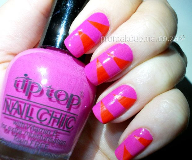 added thick strokes of pink, using Tip Top Nailchic – Sherbet ...