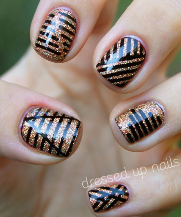 Tape Nail Art Designs