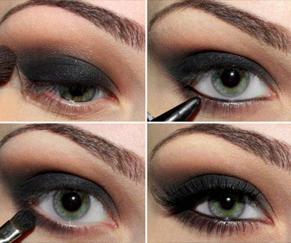 7. Dark Eyeliner & Mascara